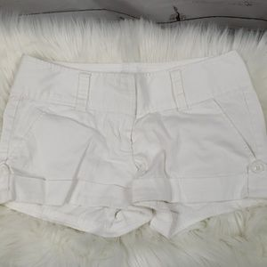 Fun White Cuffed Shorts